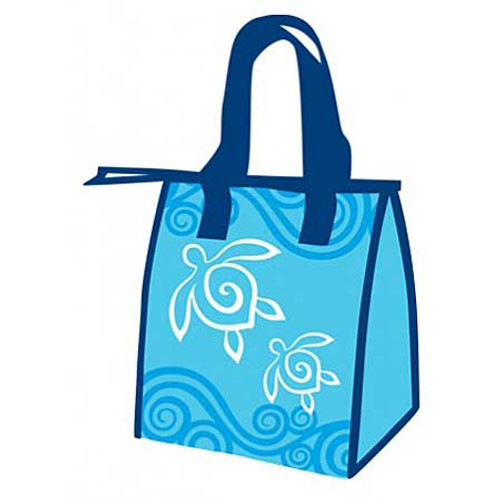 Blue Turtle Swirl Lunchbag Small 40302000