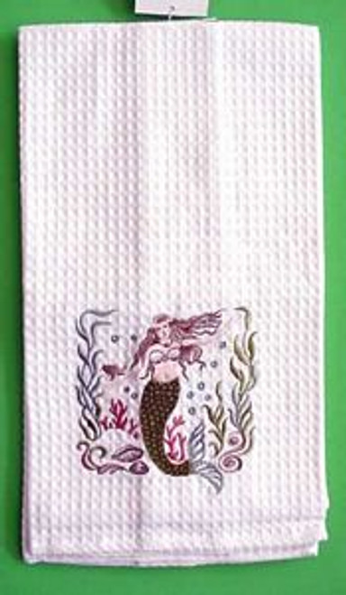 Mermaid Embroidered Kitchen Towel - 84265166