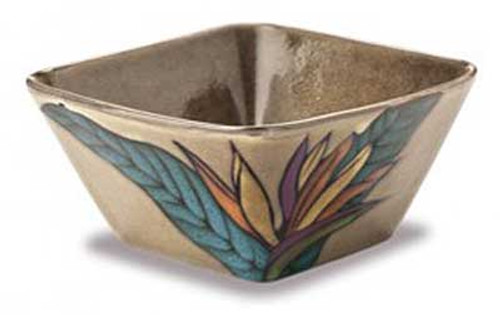 Bird of Paradise Bisque Square Bowl 9912823100