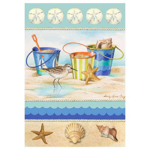 Ocean Sea Shell and Beach House Flag - 0309FL