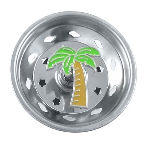 Palm Tree Kitchen Sink Strainer - Stainless Steel - 06SS