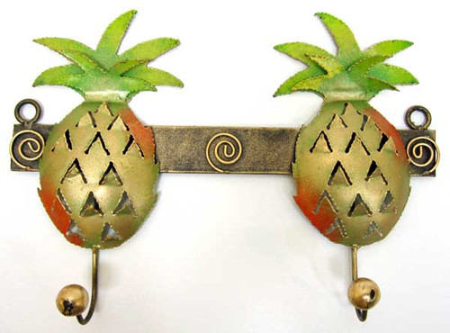 Pineapple Decorative Double Metal Wall Hook BS225P
