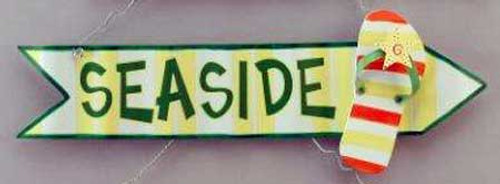 Seaside Flip Flop Wood Sign Wall Plaque 11222YG