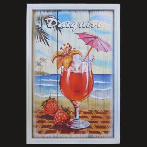 Tropical Theme Daiquiri Cocktail Wood Sign 11675D