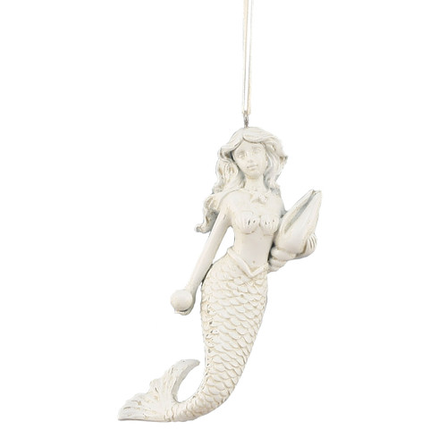 Mermaid Ornament with Shell