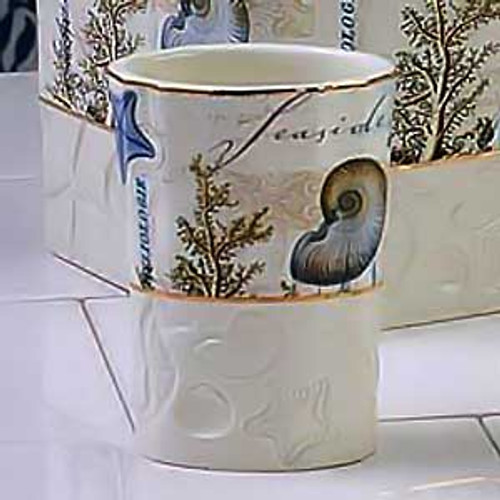 Sea Shells Antigua Ivory Tumbler 13571A