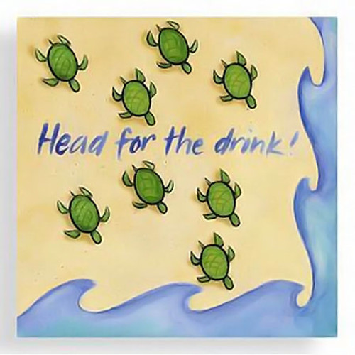 "Sea Turtle ""Head for the Drink"" Cocktail Napkins - 15-103"