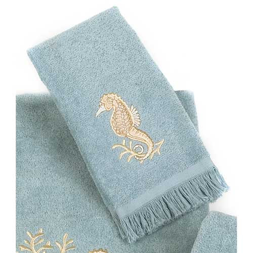 Seahorses Fingertip Towel Mineral 1728FM