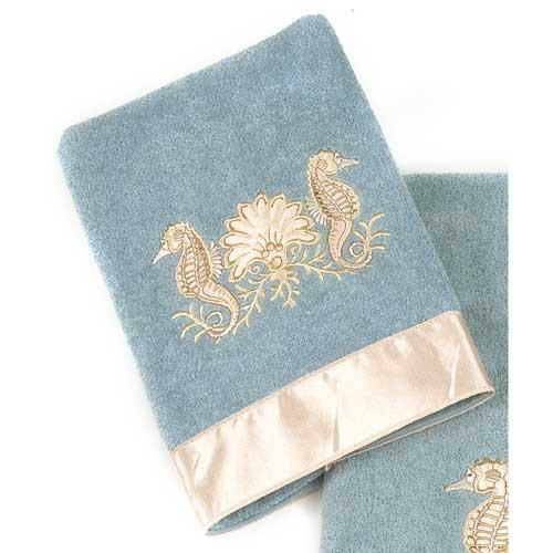 Seahorses Hand Towel Mineral 1728HM