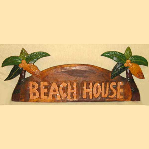 Beach House Wood Sign Hand Painted 185-2-675