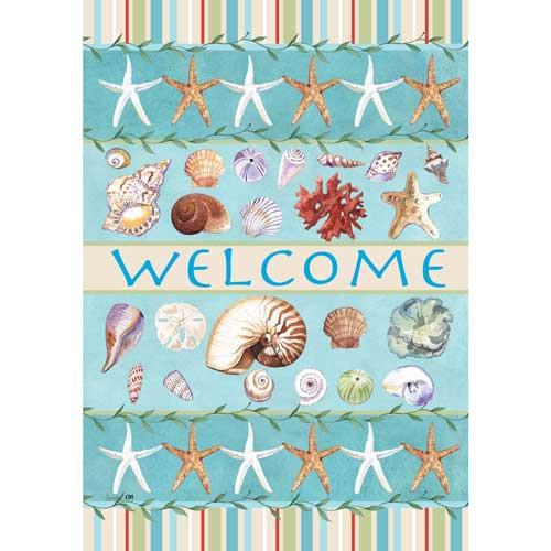 Sea Shell Welcome Garden Flag 1953FM