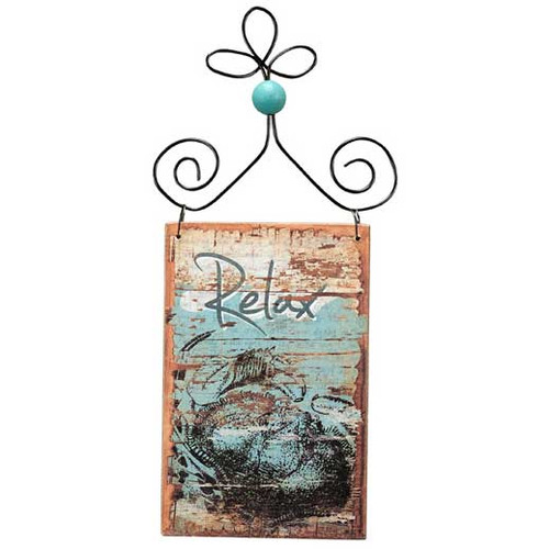 Wooden Bleached Ornament - Relax 21076RE