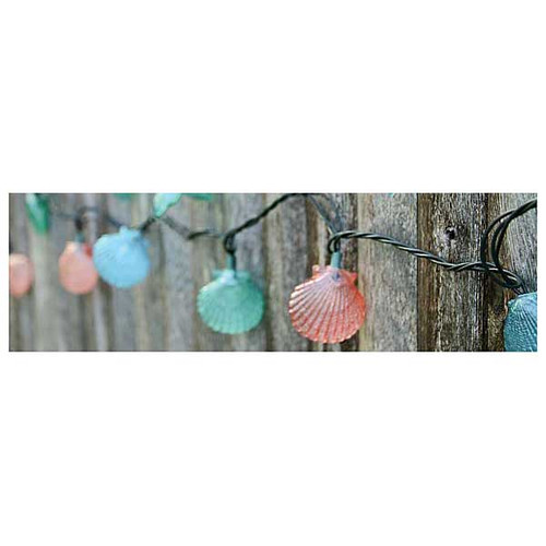 Scallop Shell String Lights 8.5' Long Strand 25253-SCALLOP