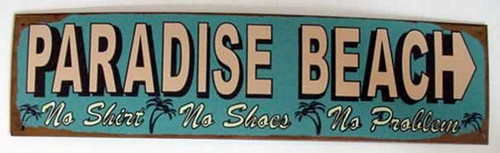 "Tropical Tin Sign ""Paradise Beach"" - 29510C"