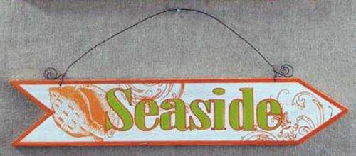 Wood Plaque Seaside Arrow Wall Sign 30137SW