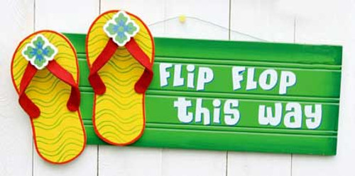 Flip Flop This Way Wood Sign 31134G