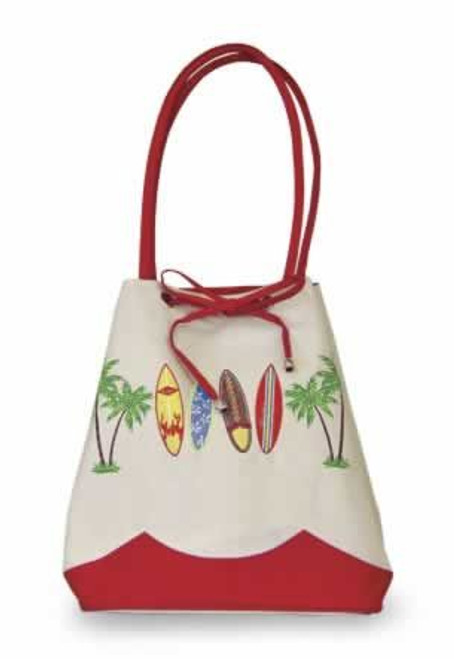 "Surfboards ""Surf Safari"" Drawstring Tote Bag - 32115-000"