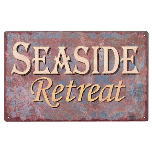 Seaside Retreat Metal Tropical Sign 32666-SEA