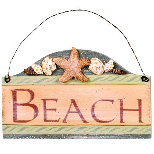 "Beach Small Wood Sign ""Beach"" - 33051B"