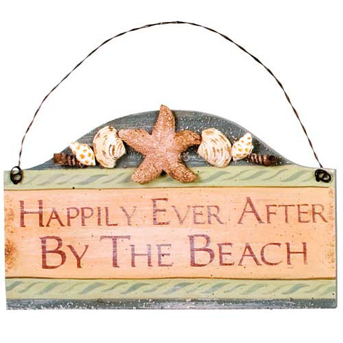 "Beach Small Wood Sign ""Happily Ever After by the Beach"" - 33051C"