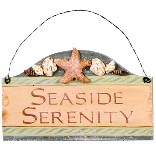 "Beach Small Wood Sign ""Seaside Serenity"" - 33051E"