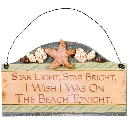 "Beach Small Wood Sign ""Starlight Star Bright.."" - 33051F"