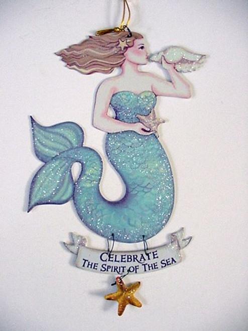 """Magical Mermaid Tin Sign """"Celebrate"""" - 33114E"""
