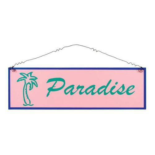 """Tin Sign Large """"Paradise"""" - 33368A"""