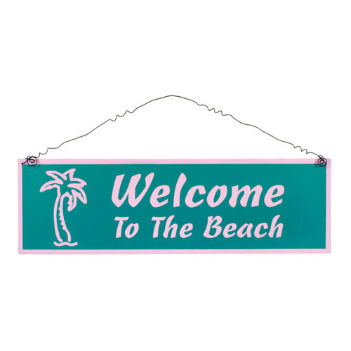 "Tin Large Sign ""Welcome to the Beach"" - 33368C"