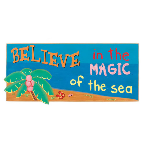 Magic of the Sea Believe Wood Sign 33615B