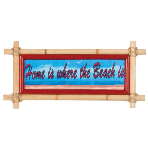 Bamboo Home Beach Sign 33644H
