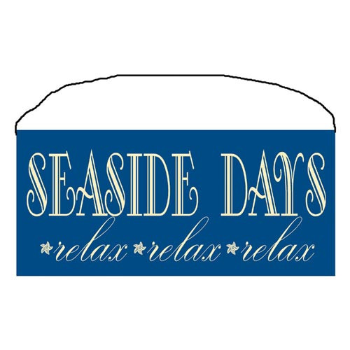 "Beach Wood Sign ""Seaside Days"" 35085"