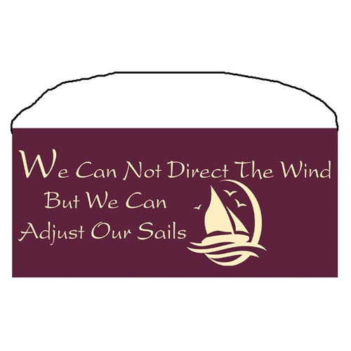 "Beach Wood Sign ""Adjust Our Sails"" 35085"