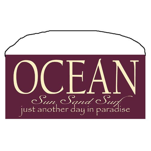 "Beach Wood Sign ""Sun Sand Surf"" 35085"