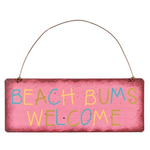 Beach Bums Welcome Metal Sign 35129B