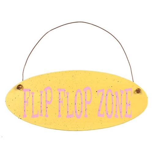 Flip Flops Zone Metal Sign 35129F