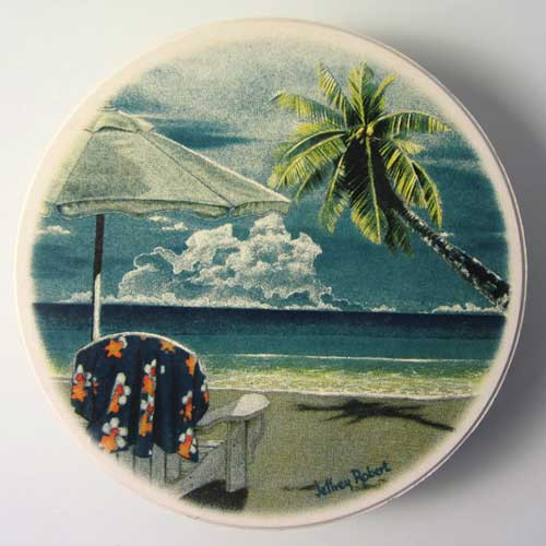 Seaside Round Coaster Set of 4 - 3RC438