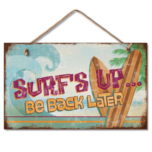 Surf's Up Wood Sign - 41-806