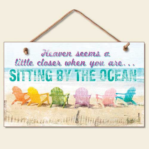 "Beach Sign ""Sitting by the Ocean"" - 41-852"