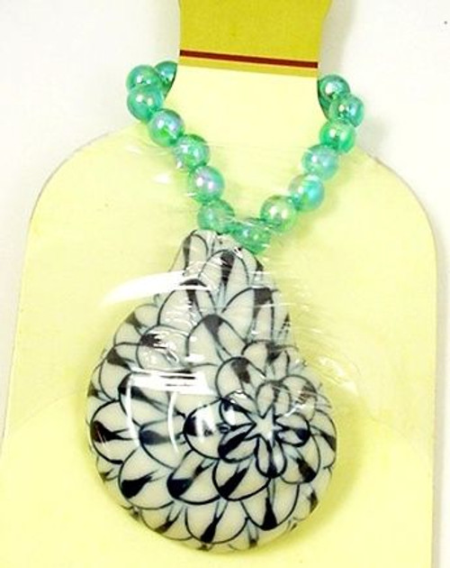 Sea Shell Bottle Charm Wine Necklace Conch - 46825B
