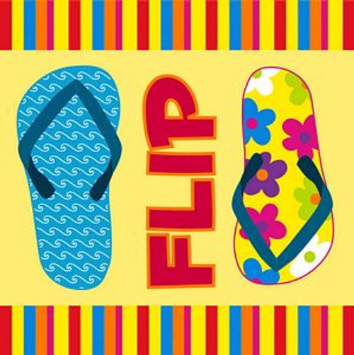 Flip Flops Luncheon Napkins Pk of 20 - 4NL133