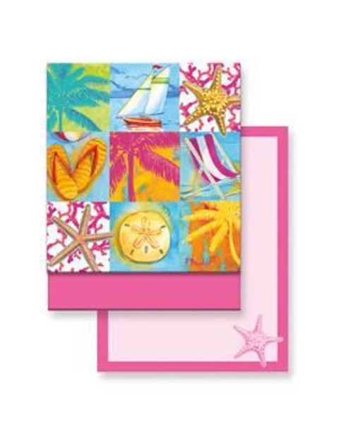 Beach Patchwork Matchbook Memo Notepad - 50-101