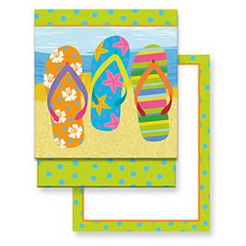 Flip Flop Parade Matchbook Memo Notepad 50-114