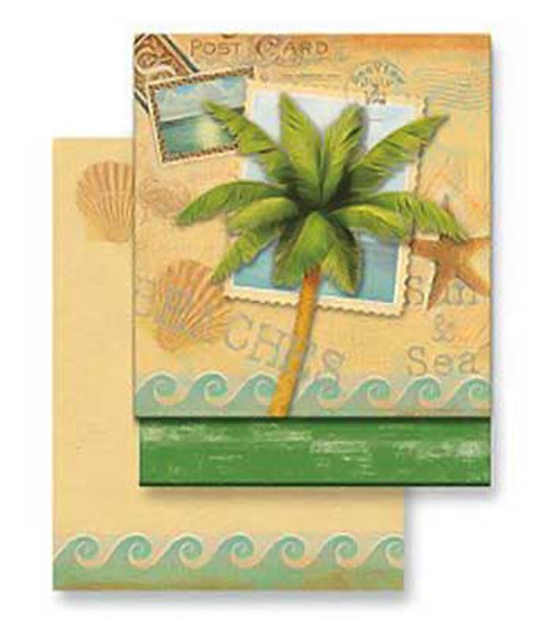 Palm Tree Sun Sea Matchbook Memo Notepad 50-116