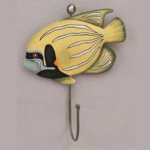 Yellow Fish Metal Wall Hook 51023Y