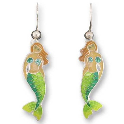 Little Mermaid Sterling Silver Drop Earrings 71-76-01