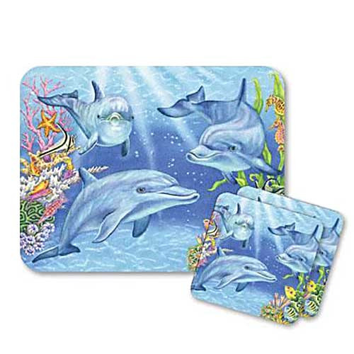 Dolphin Cove Mouse Pad and Coasters Set - 801-33