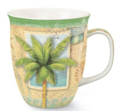 "Palm Tree ""Sun and Sea"" Coffee Mug - 814-33"