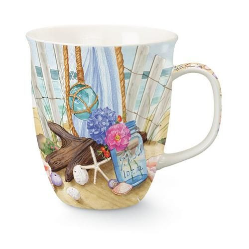 "Beach Theme ""Seaside Gathering"" Coffee Mug - 814-35"