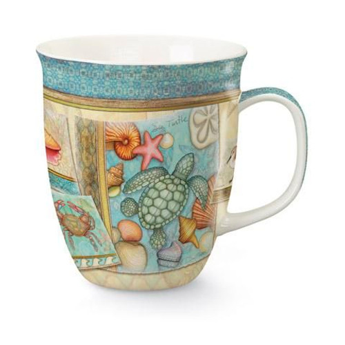 "Sea Turtle & Shells Coffee Mug ""By the Shore"" - 818-70"